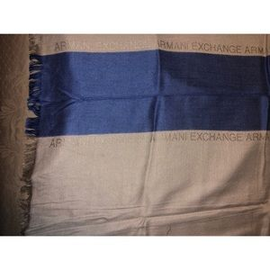 Armani Exchange Scarf. Blue/Cream. Brand New. OS.